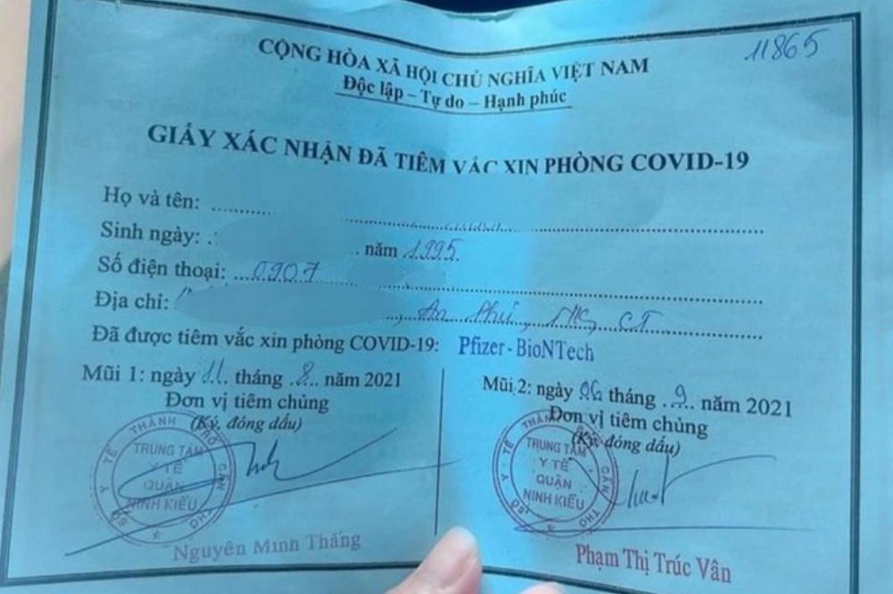 Vụ tiêm vaccine Pfizer nhờ ông anh: Kỷ luật cảnh cáo Phó Chủ tịch phường - 1