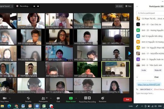 Phòng dịch Covid-19, học sinh quận Ba Đình kiểm tra học kỳ trực tuyến đợt 2