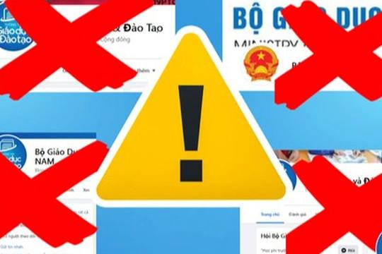 Nhiều trang Fanpage mạo danh Bộ trưởng Bộ GD-ĐT Nguyễn Kim Sơn