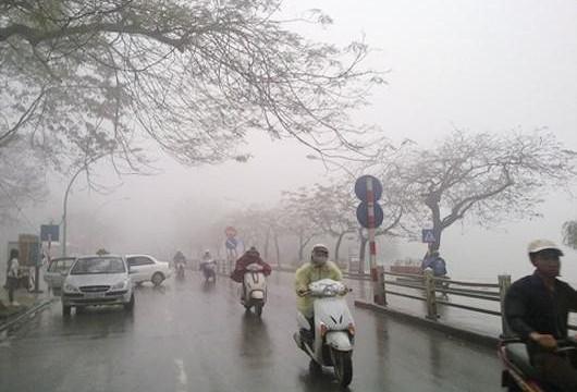 Hà Nội đón không khí lạnh tăng cường kèm mưa lớn