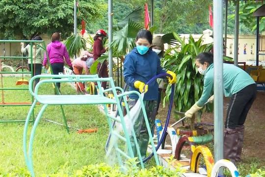 Quảng Bình: Trường mầm non Phong Nha khẩn trương khắc phục sau lũ